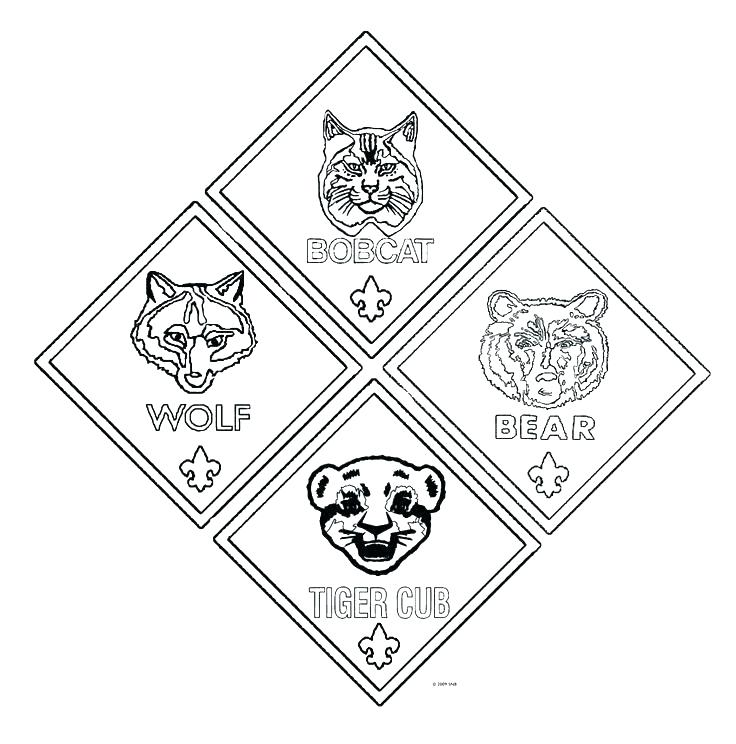 736x744 Tiger Cub Scout Coloring Pages Free Cub Scout Man Printable All