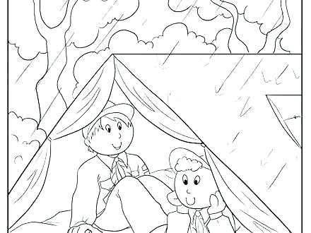 440x330 Boy Scout Coloring Pages Boy Scout Printable Coloring Pages