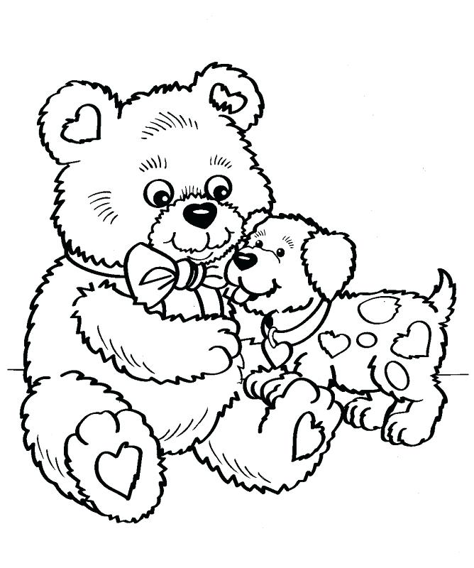 668x800 Best Friend For Ever Boy With Love Balloon Coloring Page Holiday