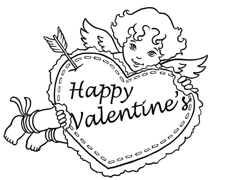 754x600 Printable Happy Valentines Day Coloring Pages