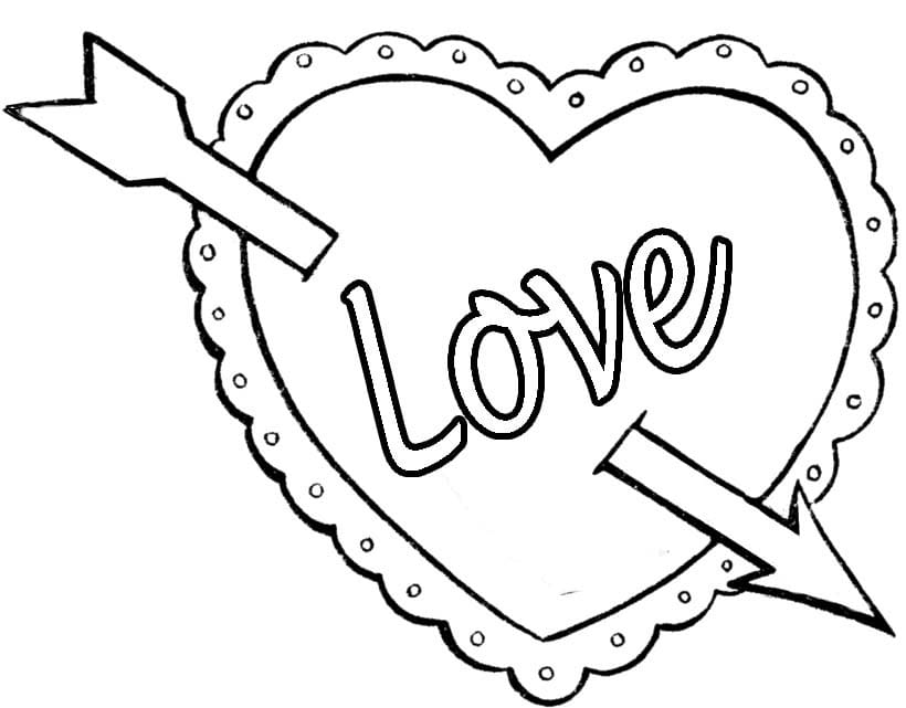 820x641 Valentines Day Coloring Pages With Heart