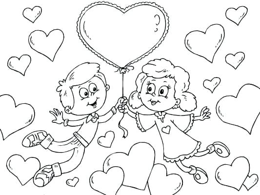 533x400 Cute Valentines Day Coloring Sheets Page Of A Boy And Girl