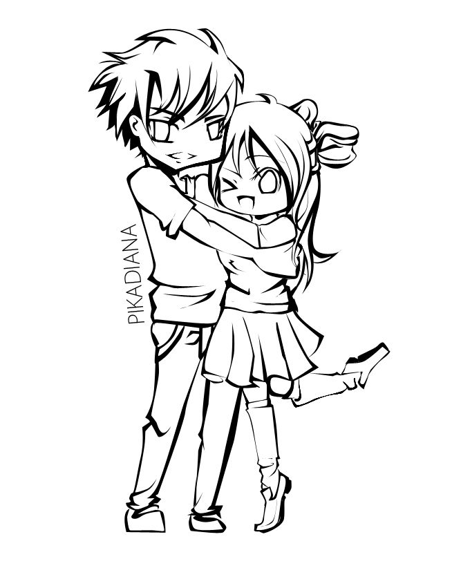 654x822 Cute Couple Coloring Page Free Download