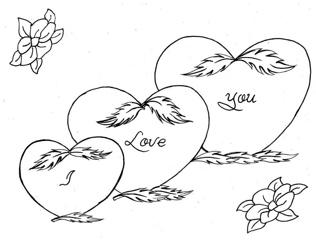 1100x841 I Love You Coloring Pages
