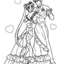 220x220 Sailor Moon With Her Boyfriend Coloring Pages