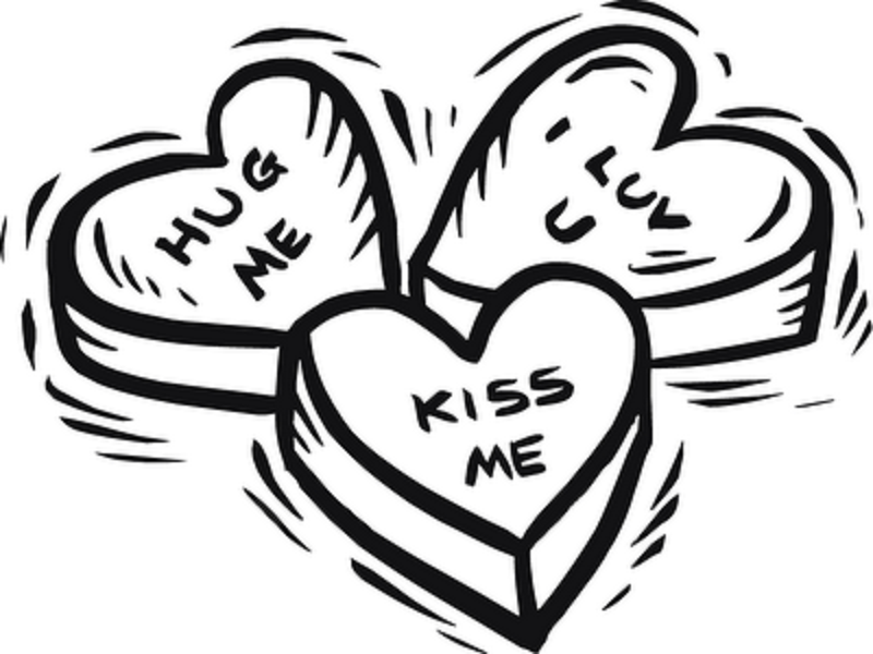 800x600 Three Hearts Free Coloring Page Adults, Love, Valentines Day