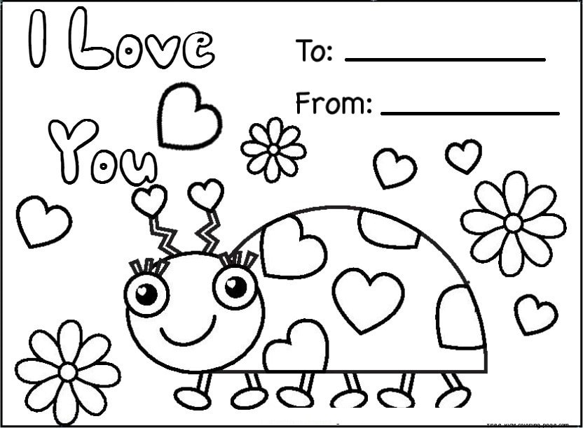 832x612 Valentines Day Coloring Pages Free Download