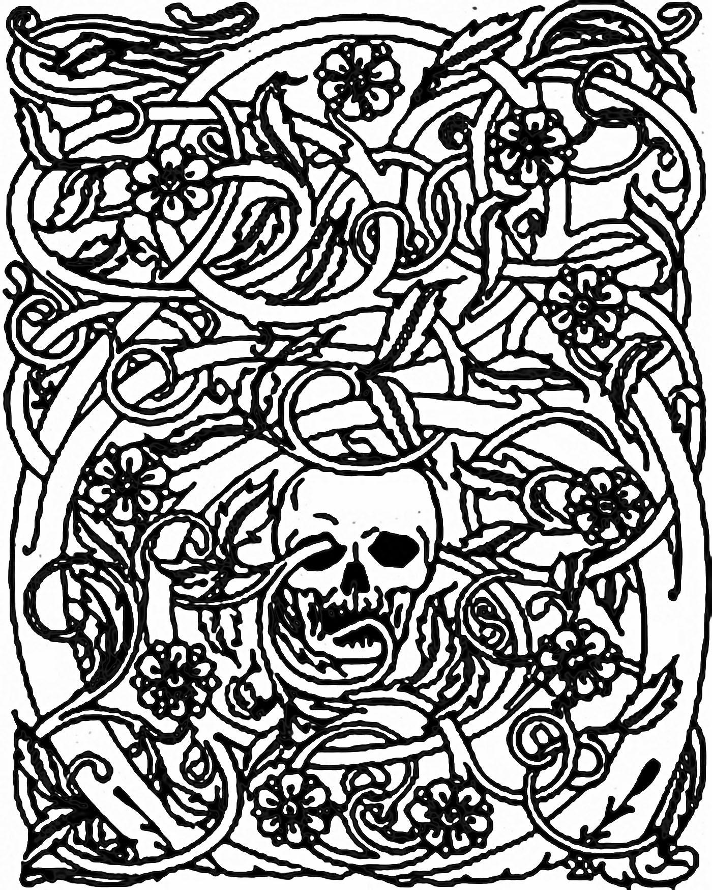 1400x1748 Halloween Skeleton And Brambles