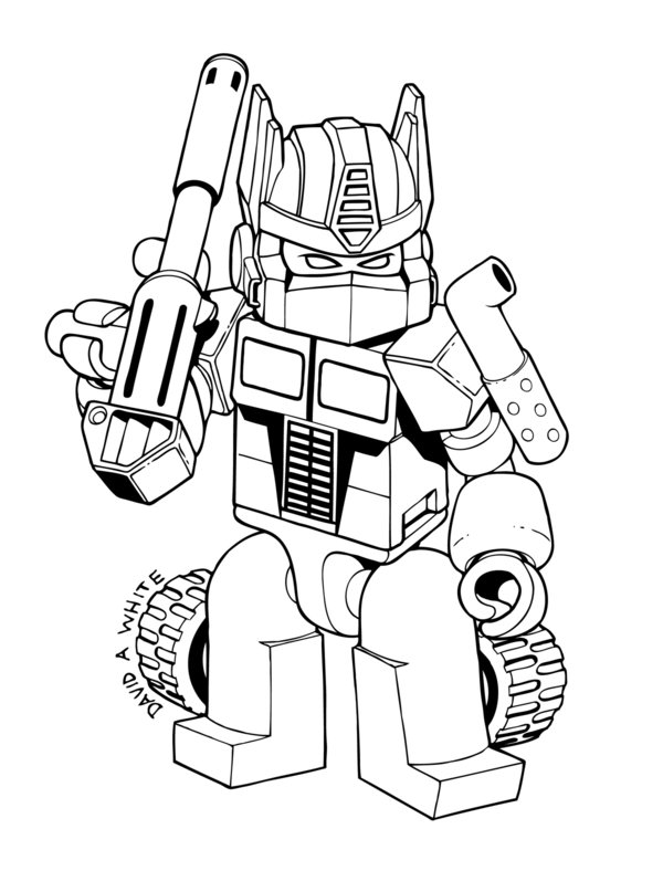 600x788 Shining Transformers Coloring Pages To Print Optimus Prime