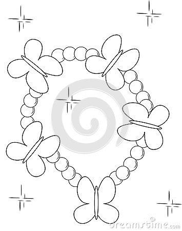 355x450 Charm Bracelet Coloring Pages