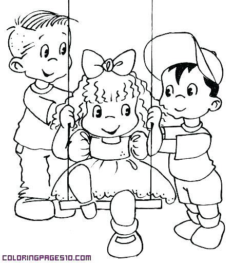 454x512 Friendship Coloring Pages Coloring Pages Friends Playing Colouring