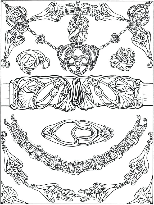 650x865 Jewelry Coloring Pages Printable Coloring Page
