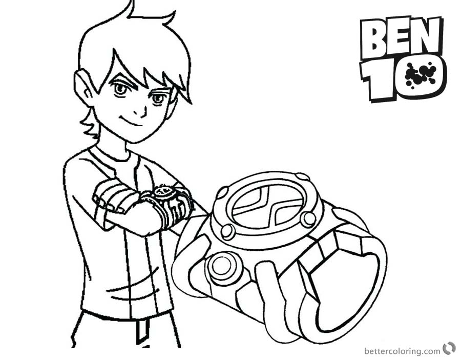 900x700 Ben Coloring Pages And His Bracelet
