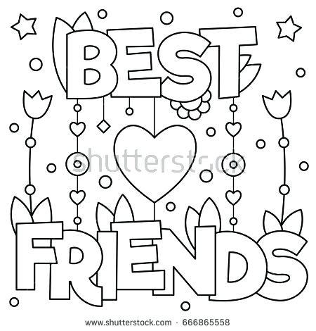 450x470 Best Friend Coloring Pages Friends Pictures To Color Friends
