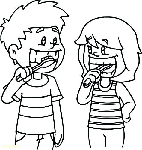 474x500 Coloring Pages Dental Coloring Pages Dentist And Kid With Braces