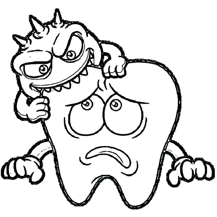 736x736 Coloring Pages Of Teeth Dental Health Brush Your Teeth For Your
