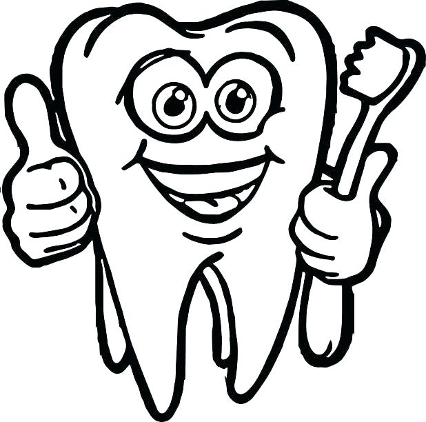 618x612 Teeth Brushing Colouring Pages Paint Brush Coloring Page