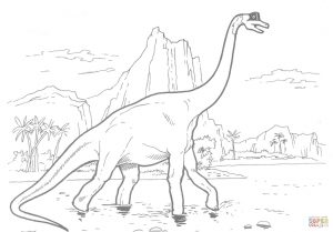300x209 Free Brachiosaurus Coloring Pages