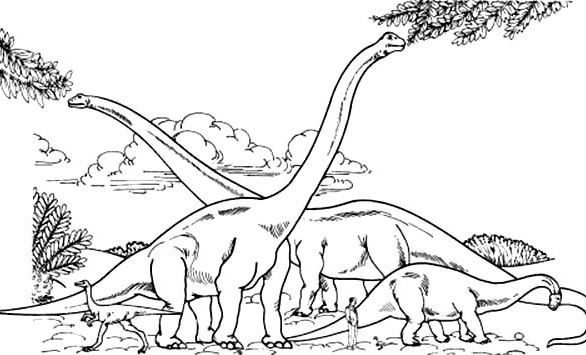586x355 Brachiosaurus Coloring Page Hd Drawing Board Weekly