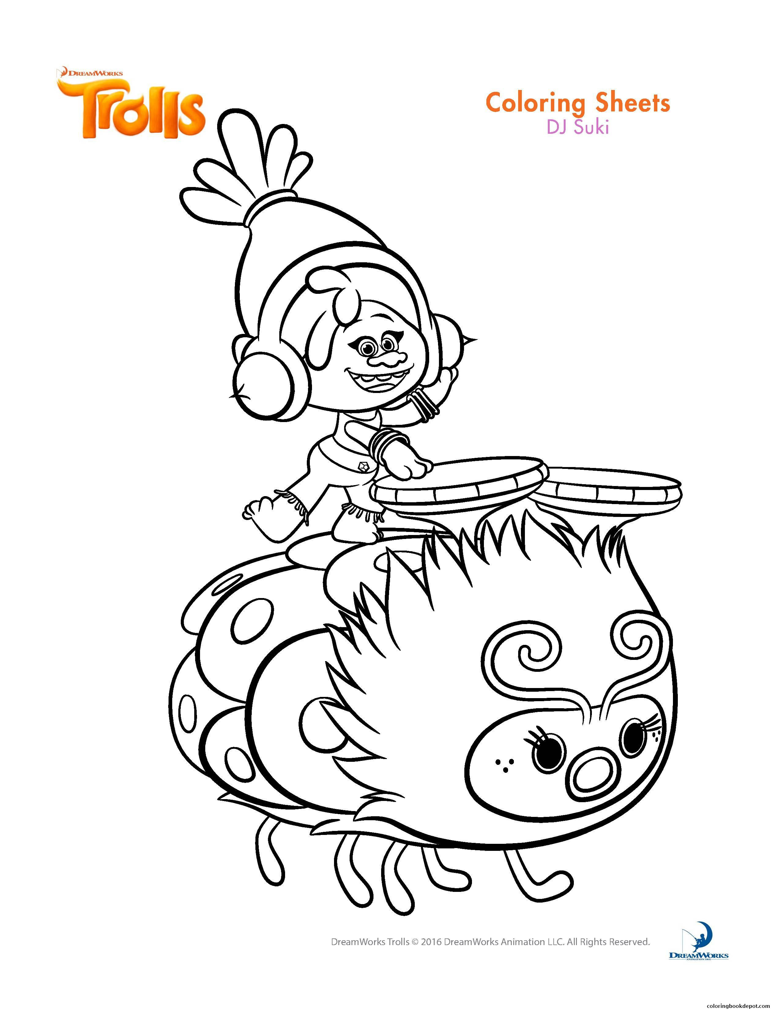 2550x3300 Trolls Coloring Pages Got Amazing Branch Page Fiscalreform