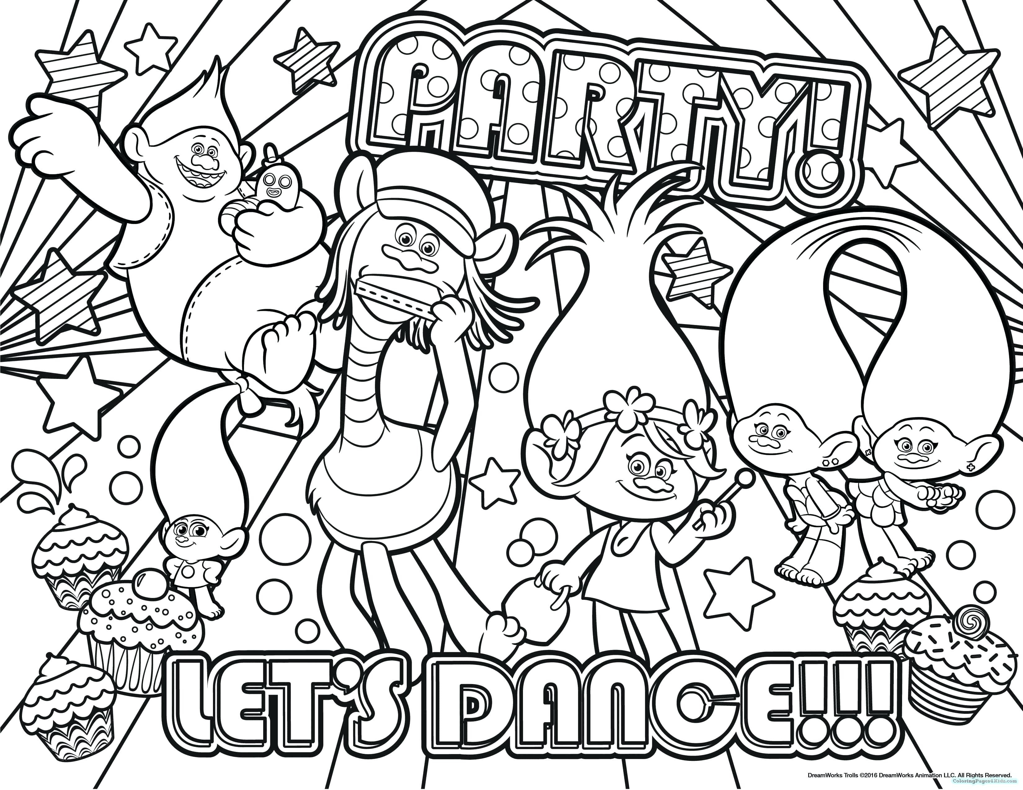 3300x2550 Coloring Pages Trolls Fresh Branch Poppy From Trolls Coloring