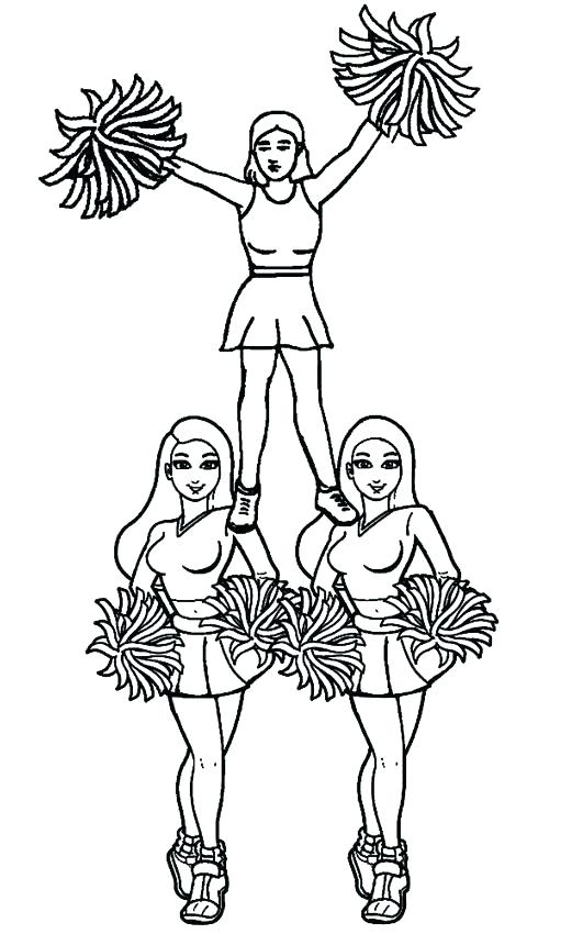 531x850 Cheerleader Coloring Pages Cheerleader Coloring Pages Cheerleader