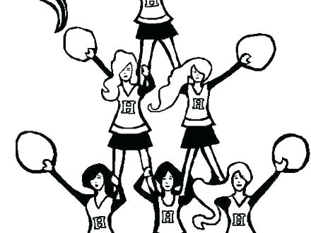 440x330 Cheerleader Coloring Pages Related Post Minnie Mouse Cheerleader