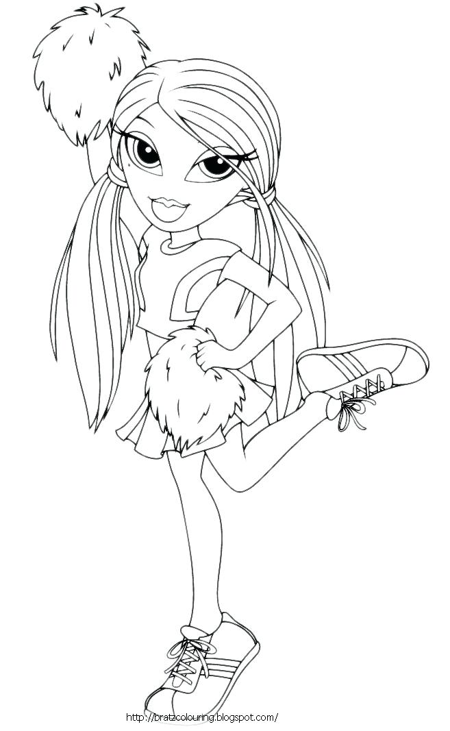 657x1067 Cheerleading Coloring Pages Beautiful Cheerleader Coloring Pages