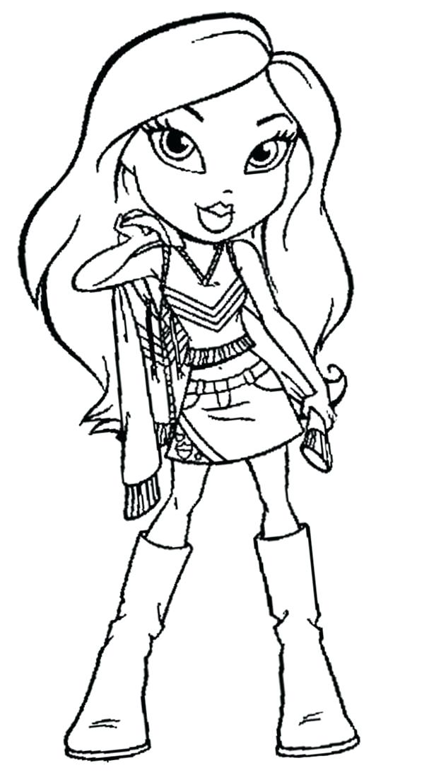 600x1102 Coloring Pages Bratz The Cheerleader Coloring Page The Cheerleader