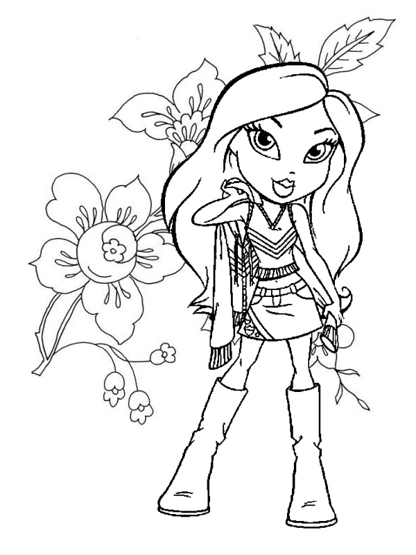 600x800 Bratz Coloring Pages Free Black And White Coloring Pages Of Bratz