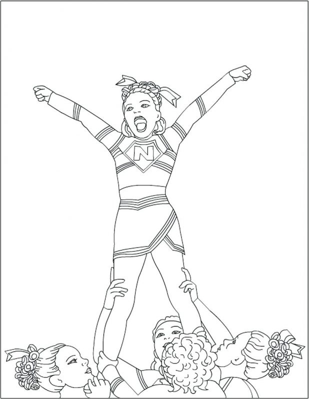 618x798 Barbie Cheerleader Coloring Pages Online Football Player And Girls