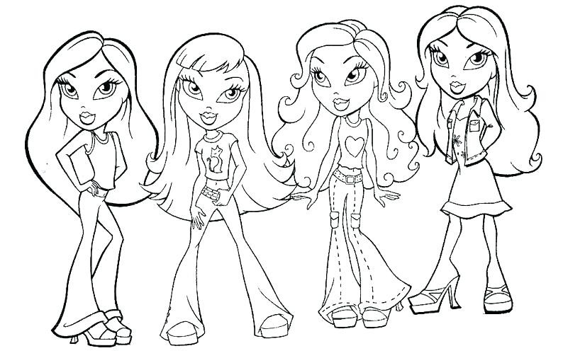 Bratz Dolls Coloring Pages At Getdrawings Com Free For Personal