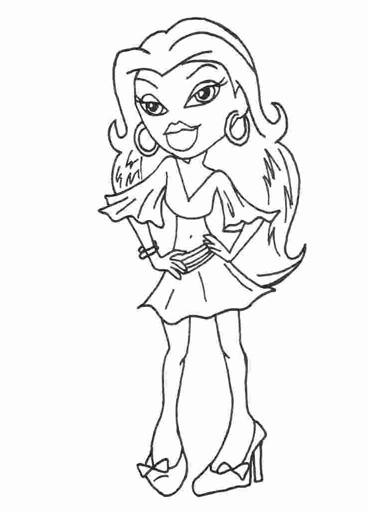 Bratz Kidz Coloring Pages At Getdrawings Com Free For Personal Use