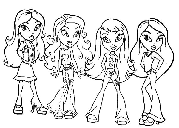 Bratz Kidz Coloring Pages at GetDrawings.com | Free for personal use ...