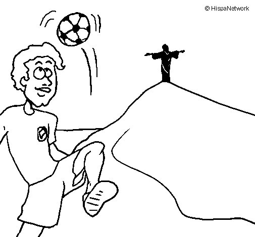 505x470 Brazil Coloring Page