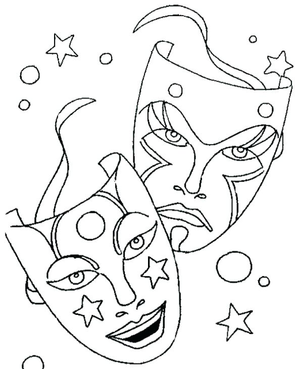 584x730 Carnival Coloring Page Masks Coloring Pages Printable Masks