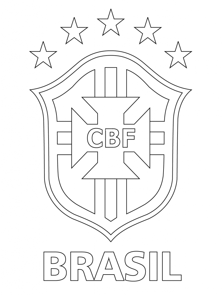 774x1024 Logo Of Brazilian Football Confederation Printable Coloring Pages