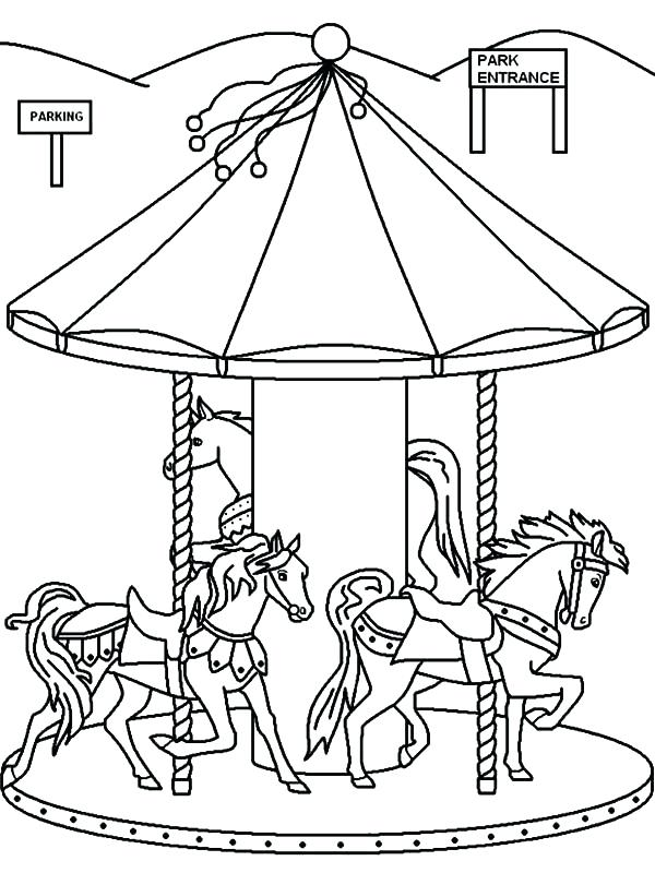 600x800 Carnival Coloring Page