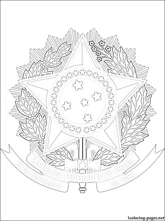 560x750 Brazil's Coat Of Arms Coloring Page Coloring Pages