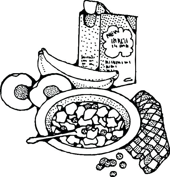 576x600 Breakfast Coloring Pages Breakfast Coloring Pages Breakfast
