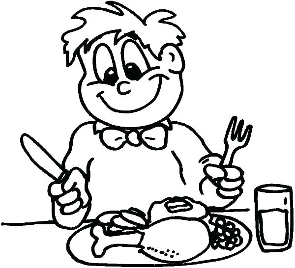 600x546 Breakfast Coloring Pages Breakfast Coloring Pages Healthy Eating