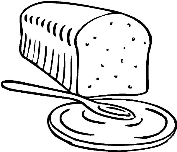 600x515 Bread For Breakfast Coloring Pages Best Place To Color