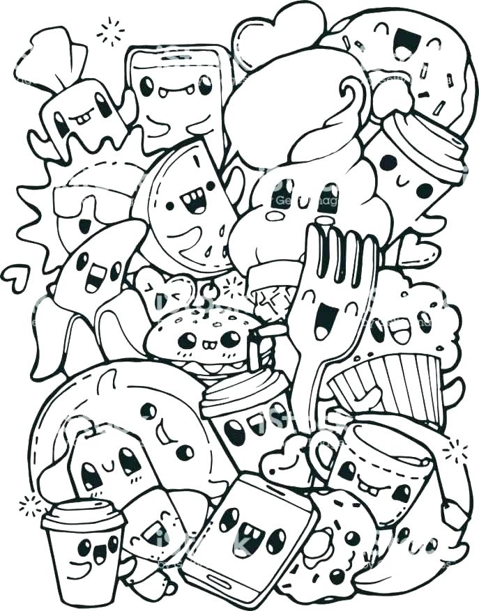 687x877 Healthy Food Coloring Pages Food Coloring Pages Breakfast Coloring