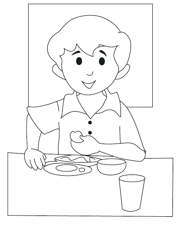 630x810 Breakfast Coloring Pages