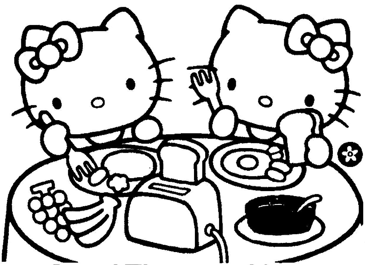 1238x900 Coloring Pages Download And Print For Free Breakfast Coloring