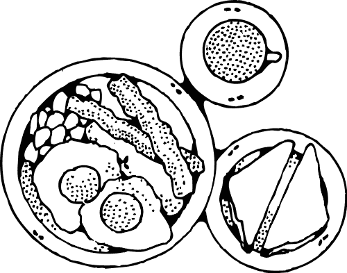500x393 Breakfast Coloring Page Fun Coloring Pages For Kids And Adults