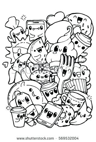318x470 Breakfast Coloring Page Dining Doodles Breakfast Lunch Dinner Food