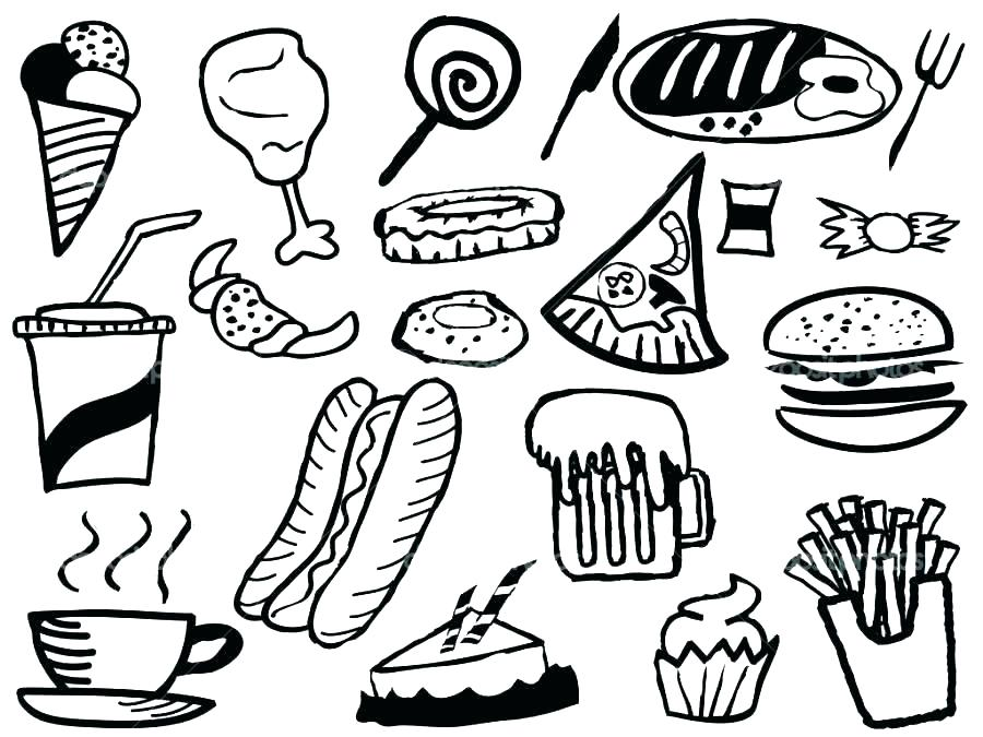 Breakfast Food Coloring Pages At Getdrawings Free Download