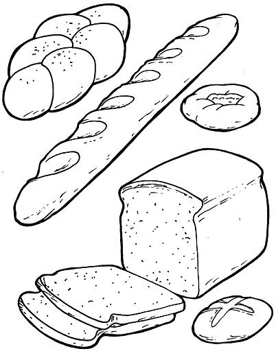 402x512 Cool Idea Bread Coloring Pages Breakfast Crafts And Worksheets