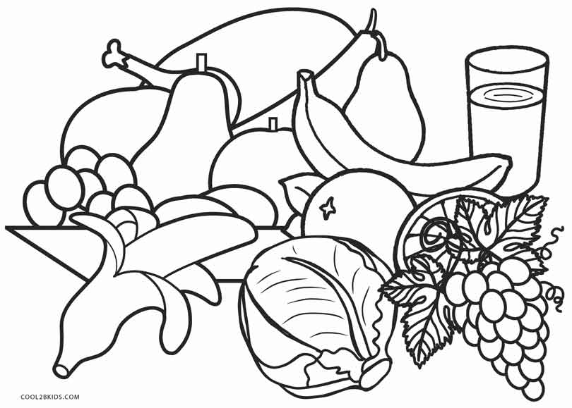 810x579 Free Printable Food Coloring Pages For Kids